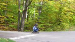 Stock Video Footage of Downhill crossroads