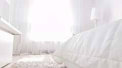 Wonderful interior of bedroom Stock Footage