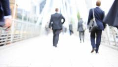 Contemporary commuters - stock footage