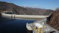hydroelectric power station - stock footage