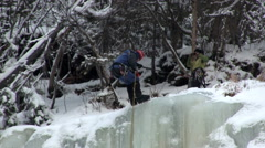 Descending ice wall Stock Footage