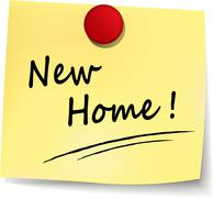 New home sign Stock Illustration