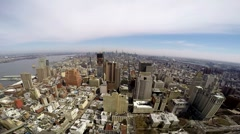 New York City Manhattan view from downtown to uptown Stock Footage