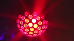 Mirror ball rolling in the night club - stock footage