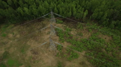 Power transmission line Stock Footage