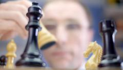 The winner in the game of chess Stock Footage