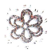 Stock Illustration of People in the shape of a flower