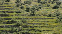Agricultural terraces or balconies in Andalusian fields Stock Footage