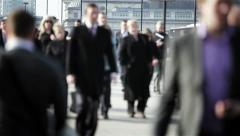 London rush hour commuters - stock footage