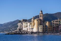 Basilica Santa Maria dell'Assunta in Camogli Stock Photos