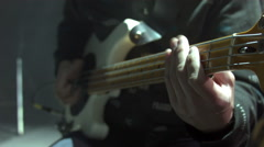 Bass Player On Stage Stock Footage