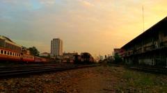 Public Thai Train Railway Stock Footage