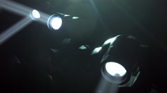 White Stage Light Moving Heads Stock Footage