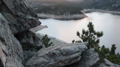 Mountain reservoir - stock footage