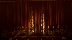 Theatrical Curtain Opening - stock footage