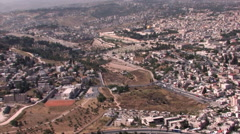 Aerial of Old City of Jerusalem, ISRAEL Stock Footage