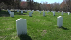 Spotsylvania Confederate Cemetery headstones pan 4K 023 Stock Footage