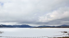 Clouds float over Lake Shchuchye at the Borovoye resort. Time Lapse Stock Footage