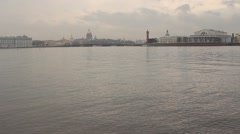 St. Petersburg. View of St. Isaac's Cathedral, Admiralty and Vasilyevsky Island Stock Footage