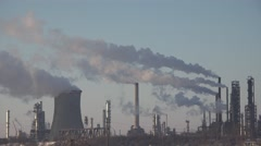 4K Pollution, Smoke from an Industrial Chimney, Thermal Power Plant Stock Footage