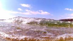 Summer under water sea splash algea Stock Footage