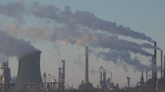 Pollution, Smoke from an Industrial Chimney, Thermal Power Plant Stock Footage