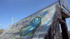 Skate ramp time-lapse - stock footage