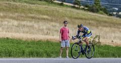 The Cyclist Nicolas Roche  Tour de France 2013 Stock Photos