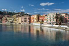 Baia del Silenzio in Sestri Levante - stock photo