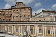 Pope apartments  on Saint Peter Place in Rome - stock photo