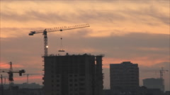 Stock Video Footage of Works at evening by night