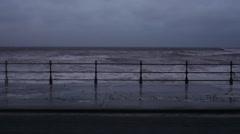 Wave Splash Crash Into Wall Harbour Promenade Seas Ocean Rough Arkistovideo