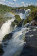 the Argentinian Side of the Iguazu Falls - stock photo