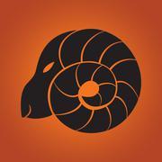 Goat logo - stock illustration