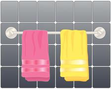 Stock Illustration of bright towels