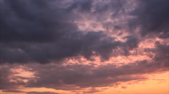 Formless clouds on evening sky Stock Footage