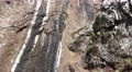 4k Mountain wall structure tilt up Pico Arieiro Madeira Footage