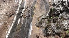 4k Mountain wall structure tilt up Pico Arieiro Madeira Stock Footage