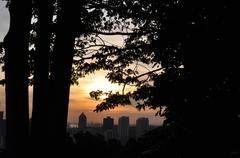 City Skyline Sunset Stock Photos