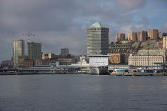 Cityscape of Genoa Stock Photos