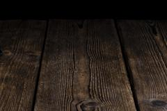 Wooden background (with black Copyspace) - stock photo