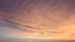 Warm twilight sky Stock Footage