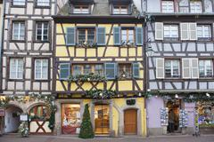 half-timbered houses in colmar, alsace - stock photo