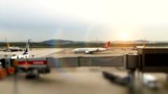 Airport outside the window scene,waiting for the flight Stock Footage