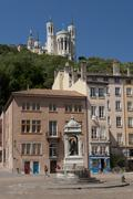 place saint jean in the vieux lyon - stock photo
