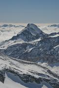 alps from Plateau Rosa - stock photo