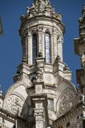 Pinnacle in chambord castle Stock Photos