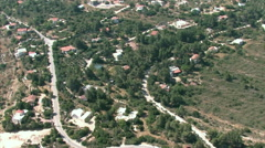 Aerial of Hilltop Neighborhood, ISRAEL Stock Footage
