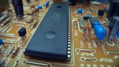 The components of the electronic board Stock Footage