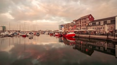 Plymouth Barbican Stock Footage